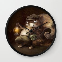 Little Squirrel Wall Clock
