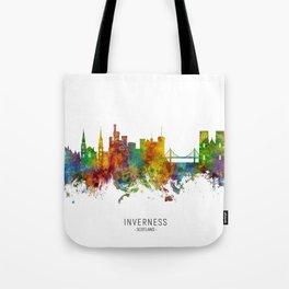Inverness Scotland Skyline Tote Bag