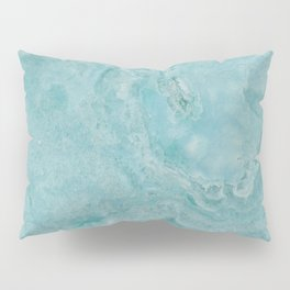 Turquoise marble Pillow Sham