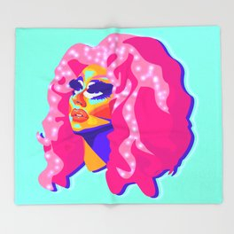 QUEEN TRIXIE MATTEL Throw Blanket