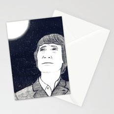 Man and Moon Stationery Cards