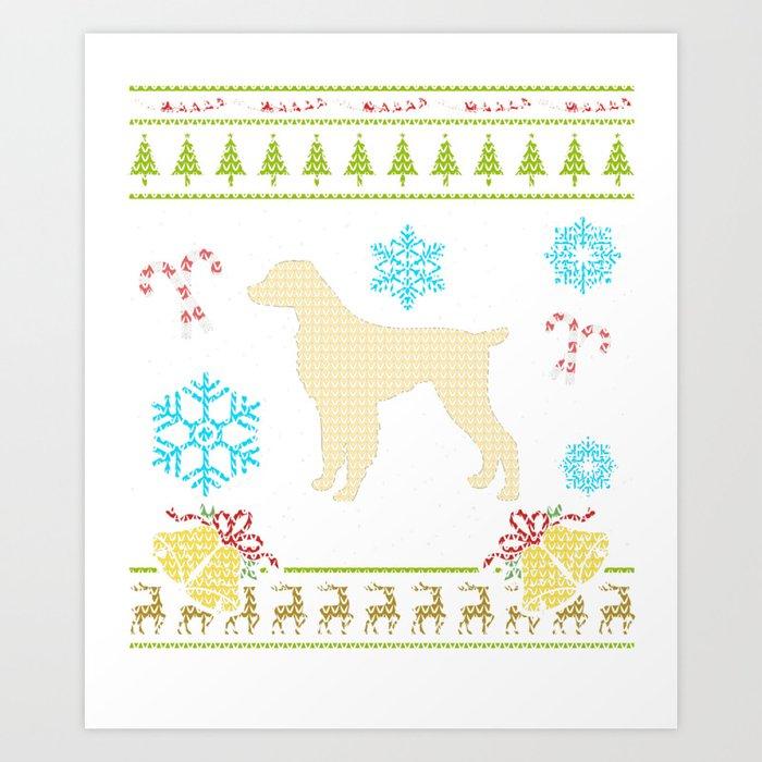 Brittany Spaniel Britney Spaniel Britany Spaniel Christmas Art Print