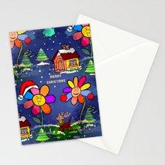 Flower Christmas by Nico Bielow Stationery Cards