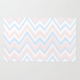 Pail colors chevron pattern Rug
