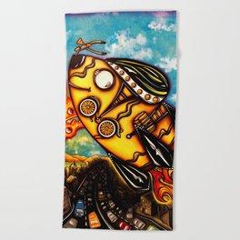 Rocket Bike Beach Towel