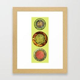 Food Mix Tris Framed Art Print