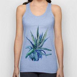 Aloe Vera, Succulent Plants turquoise blue, desert plants succulent design Unisex Tank Top