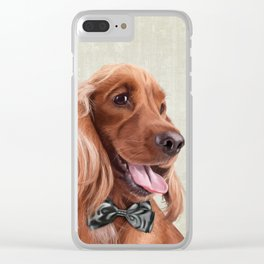 Mr. English Cocker Spaniel Clear iPhone Case