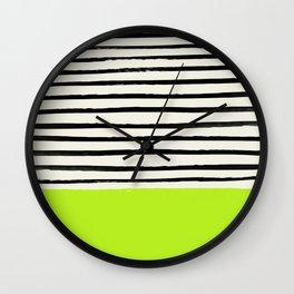 Electric Pineapple x Stripes Wall Clock