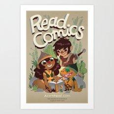 Read Comics Poster Art Print