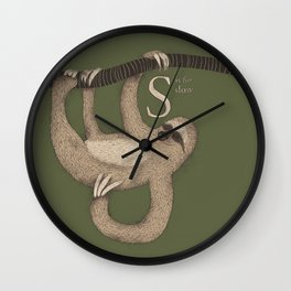S IS FOR SLOW Wall Clock