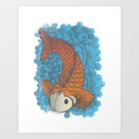 koi Art Prints featuring KOI by Matthew Taylor Wilson