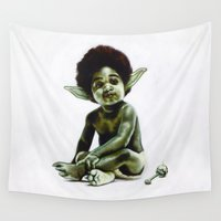 notorious Wall Tapestries featuring Ready to JEDI by Jared Yamahata