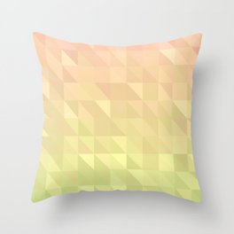 Pink and Green - Flipped Throw Pillow
