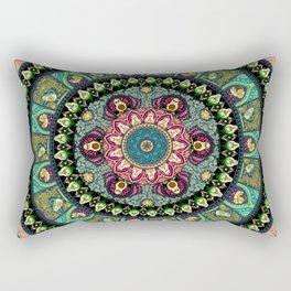 Avocado Yoga Medallion Rectangular Pillow