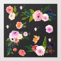 goth Canvas Prints featuring Floral Goth by MY  HOME