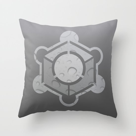 Crop Circle Water Mark Throw Pillow
