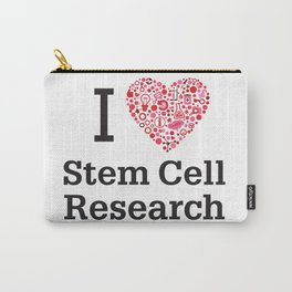I Heart Stem Cell Research Carry-All Pouch