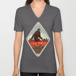 Bigfoot - I Eat People Unisex V-Neck
