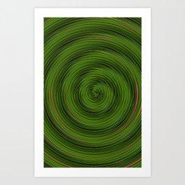 Crazy Green Spiral Art Print
