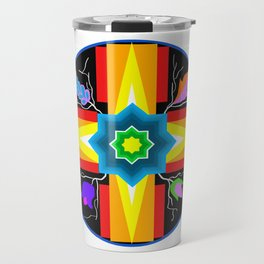 Star/Flower Design Travel Mug