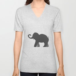 Roll Tide Elephant Crimson Tide Alabama Unisex V-Neck