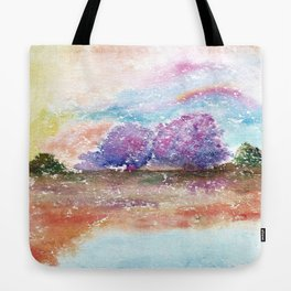 A Beautiful Day Watercolor Illustration Tote Bag
