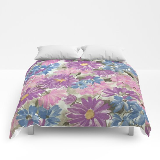 Floral pastel pattern Comforters