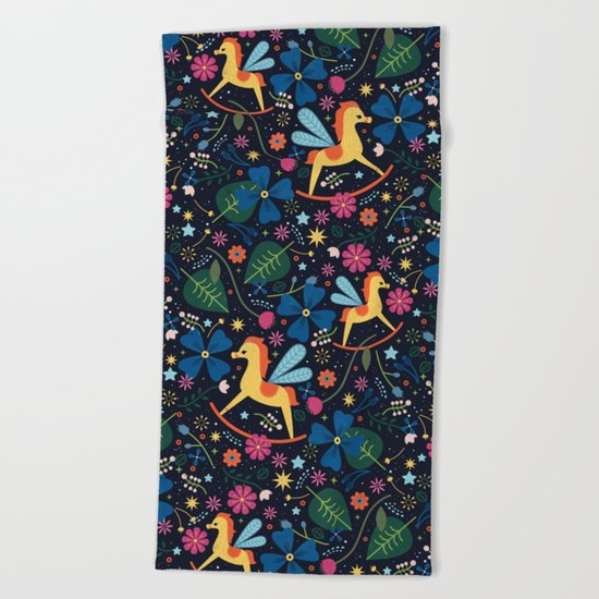 Rocking-Horse-Fly Beach Towel