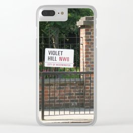 Violet Hill, London Clear iPhone Case