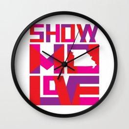 Show MO Love - Pink Wall Clock