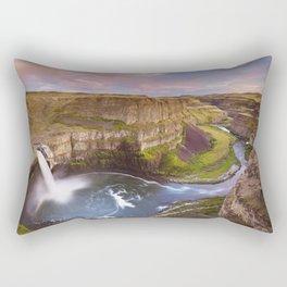 II - Palouse Falls in Washington, USA at sunset Rectangular Pillow