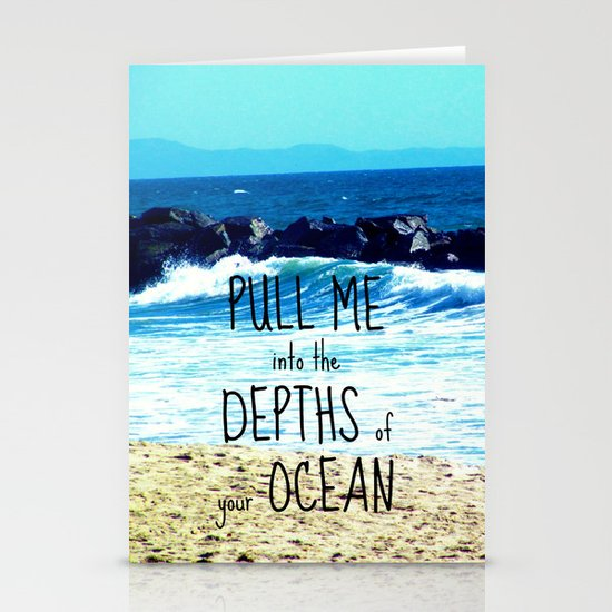 PULL ME INTO YOUR DEPTHS II  Stationery Cards