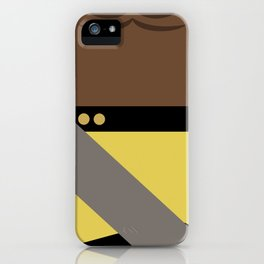 Worf - Minimalist Star Trek TNG The Next Generation - Enterprise 1701 D - startrek - Trektangles iPhone Case