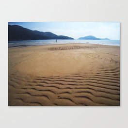 Imprints of Waves Canvas Print