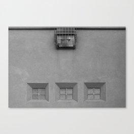 Three Little Windows Canvas Print
