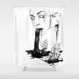 They : Water Shower Curtain