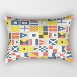 Geometric Nautical flag and pennant Rectangular Pillow