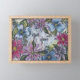 Give Grace Framed Mini Art Print