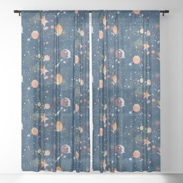 Painted Space Sheer Curtain