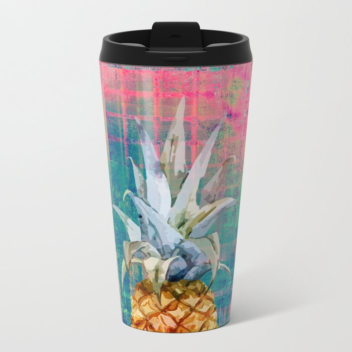 pineapple Metal Travel Mug