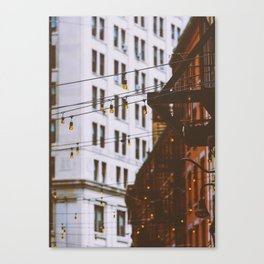 New York City Buildings and Lights (Color) Canvas Print