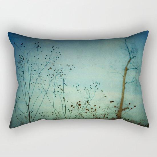 Fleeting Moment - Blue Shades Rectangular Pillow