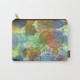 Bubbling Geometric Forms over Curved Lines  Carry-All Pouch