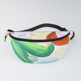 mermaid with colorful bubbles Fanny Pack