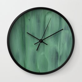 Simple Green Wall Clock
