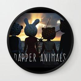 Dapper Animals Sunset Wall Clock