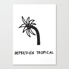 Depresión Tropical Canvas Print