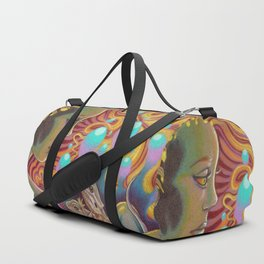 The Egg Maiden, Bearded Dragon Lizard Art Duffle Bag