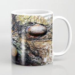 Metallic Melodrama I - Mixed Media Beeswax Encaustic Acrylic Abstract Modern Fine Art, 2015 Coffee Mug